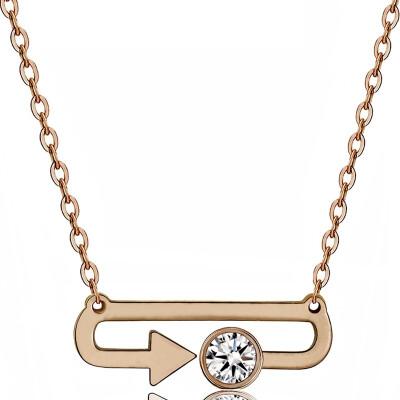 YISHIZHIAI arrow pendant creative feather necklace female simple new accessories 4456
