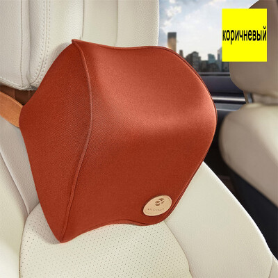 car headrest lumbar back space memory cotton with neck pillows for use in a car or at home