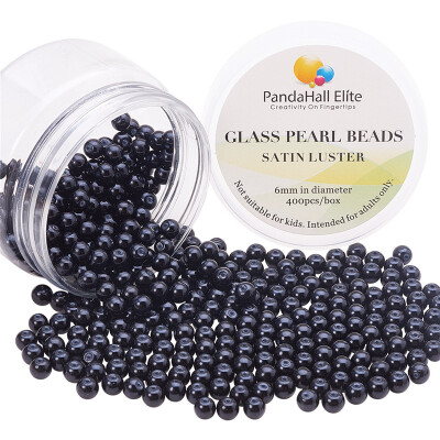 PH PANDAHALL 400 PCSbox Dyed Pearlized Glass Pearl Round Beads for Jewelry Making