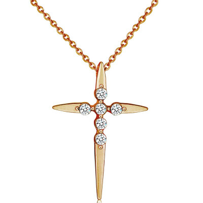 YISHIZHIAI Cross Pendant New Simple Necklace Clavicle Chain Fashion Womens Accessories 4497