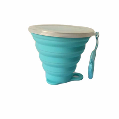 Outdoor Silicone Collapsible Travel Cup Moutaineering Retractable Water Bottle