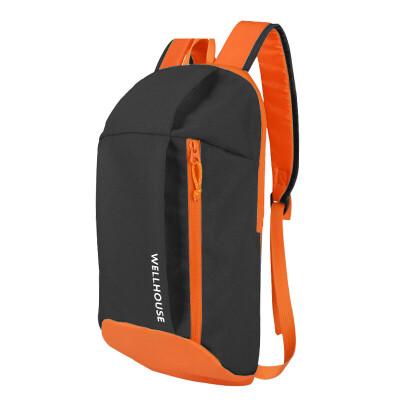 WELLHOUSE backpack outdoor shoulder bag camouflage student bag travel bag riding bag men&women casual bag packet black