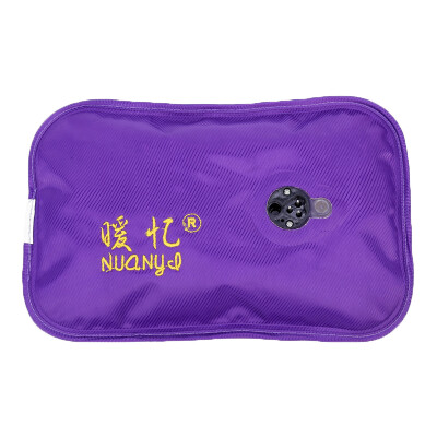 Warm reminder charge hot water bottle electric water bag warm hand treasure has water can be inserted into the skirt electric warm purple