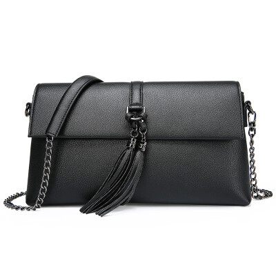 Scientist MEXICAN trend of Europe&the United States fashion personality chain shoulder bag Messenger bag ladies square bag multi-functional small bag handbag MYH70516L-06 black