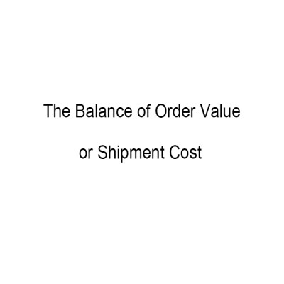 The Balance of Order Value or Shipment Cost