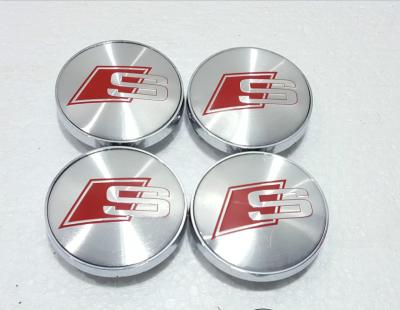 4pcs x 68 мм Audi S Line центр колеса шапки сплава Sline эмблема A3/A4/A5/A6/RS3/RS4