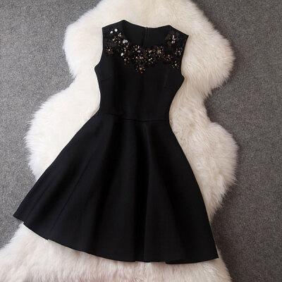 Lovaru ™summer style 2015 new women dress Sleeveless round collar simple pure color sweet PROM dress