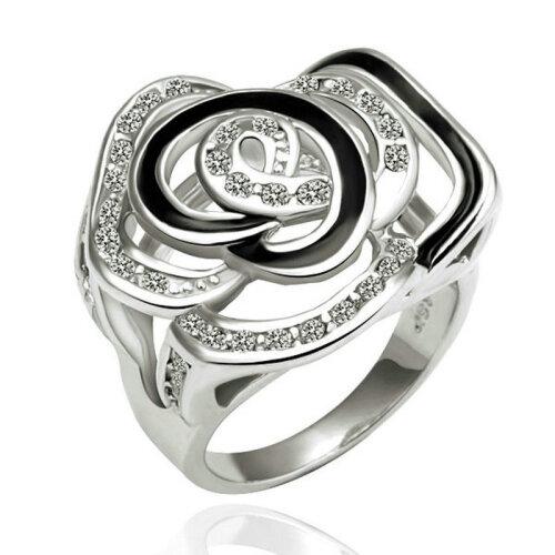 yoursfs ® 18k rose позолоченные цветочные картины кольцо использовать австрийский кристалл обручальное