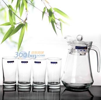 Luminarc 弓箭 乐美雅 G6200 鸭嘴壶水壶饮料用具五件套 29.9元(限华北地区)