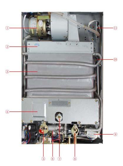 万和jsq16-8n2 超薄数显普方四季型 强排式燃气热水器图片