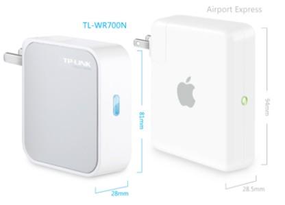正品TP-link普联TL-WR700N迷你型无线路由器 66元包邮