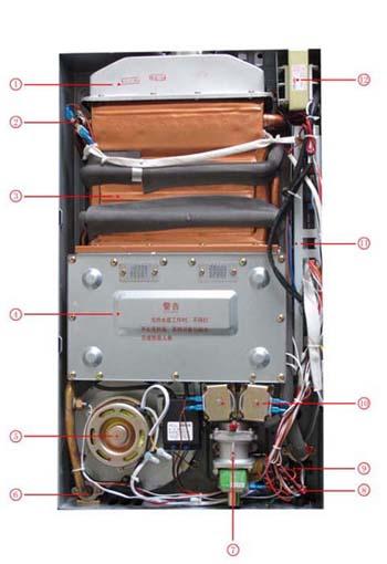 万和jsq20-10p3 v10非常节能恒温型强排燃气热水器(天然气)拉丝银图片