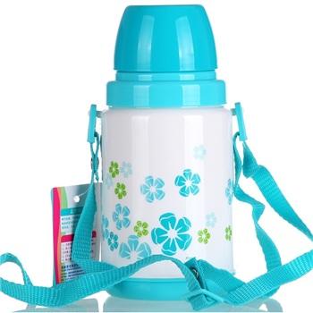 Cha Hua Camellia trumpet insulation Children Bottle 1465-A color random
