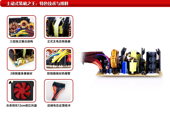 First horse (SAMA) Black Charm 400 power supply (rated 400W / smart regulator / hyun red silent fan / support backplane traces)