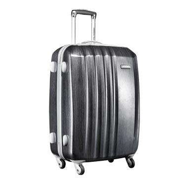 AmericanTourister美旅箱包 100%PC坚韧时尚炫彩万向轮拉杆箱40T*49009金属灰20寸