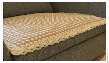 宜尚全棉沙发垫 花边359咖 70 180