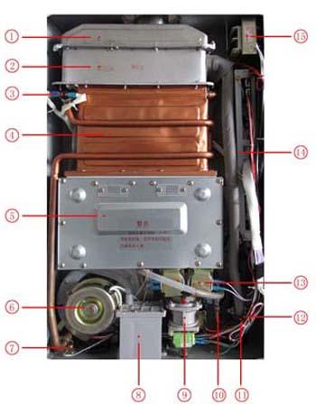 万和jsg21-12v1 凝炼冷凝恒温型平衡式燃气热水器(天然气)拉丝银图片
