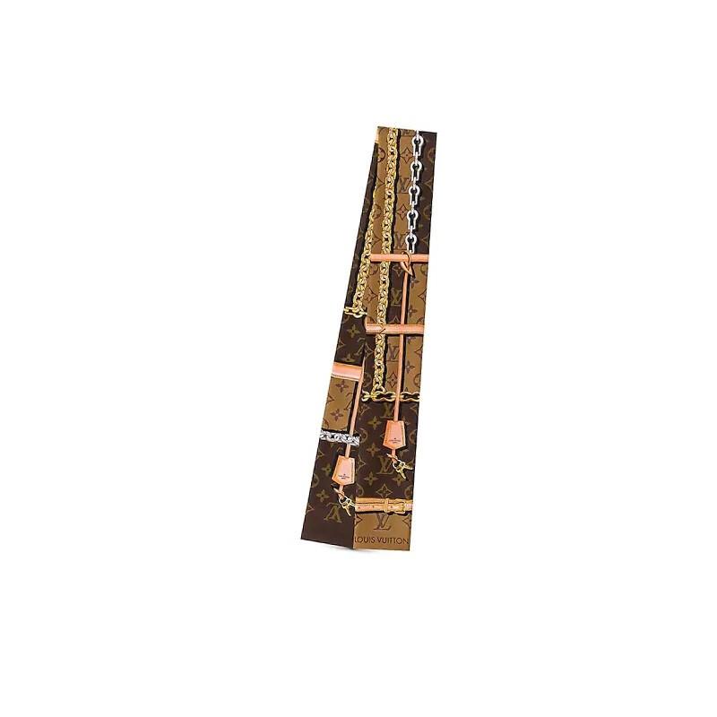 高仿原单Louis Vuitton 路易威登lv围巾男女同款长款羊毛围巾三色可选M73455 M73454路易威登LV围巾 MONOGRAM CONFIDENTIAL束发带 丝巾 真丝 女士围巾 白色(图7)