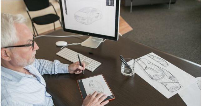 当你打开这款手写板时,它可以通过蓝牙连接你的ipad或计算机.