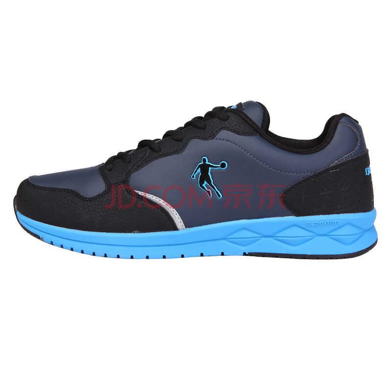 乔丹男鞋日常休闲鞋  保暖潮流运动鞋防滑个性舒适简约鞋子 经典复古系列 墨灰/湖蓝 42)