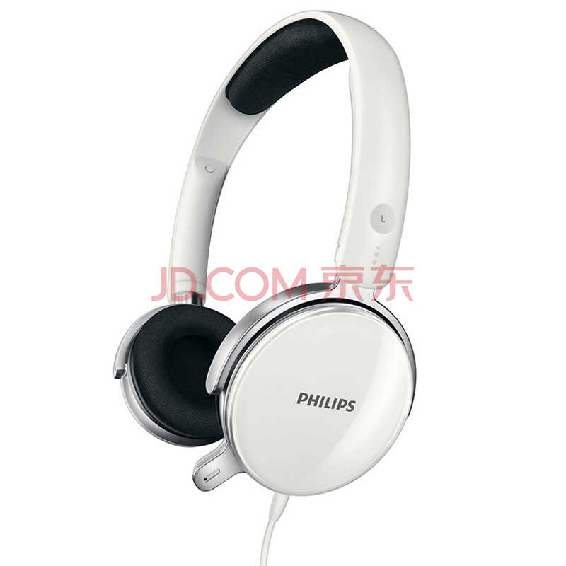 飞利浦(PHILIPS) SHM7110U 可更换耳罩 头戴式 电脑耳麦 游戏耳机 白色)