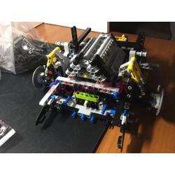 布加迪威龙奇龙合体拼装乐高跑车小积木兼容拼插益智战机儿童玩具颗粒立体积木模型阿尔法斯图片