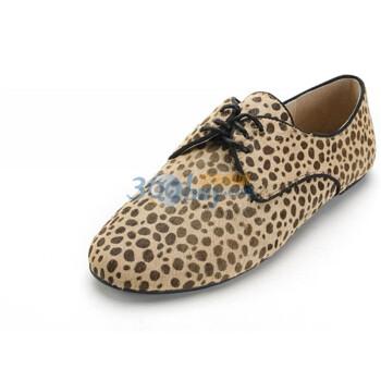 热风hotwind 2012 女士豹纹个性系带女鞋61f2107