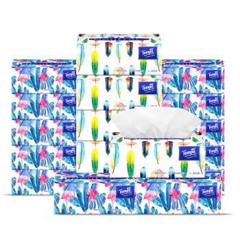 得宝(Tempo) Mini系列抽纸 4层80抽面巾纸*18包 天然无香(整箱销售)