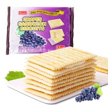 铁尺(Biando) 提子味苏打夹心饼干 休闲零食蛋糕面包甜点心小吃 实惠分享装 324g