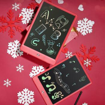 京造 液晶手写板 儿童绘画板涂鸦电子写字板 10英寸彩虹笔迹 红色贺岁送礼款
