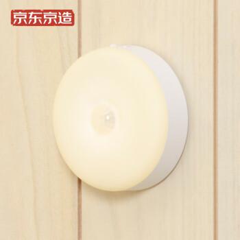 京东京造 LED挂壁式光控小夜灯智能人体感应灯婴儿喂奶灯起夜灯床头灯可挂可贴可磁吸 电池版