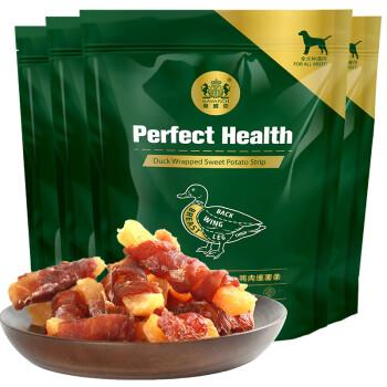 耐威克狗狗零食 鸭肉缠红薯条400g 成犬幼犬磨牙棒宠物零食