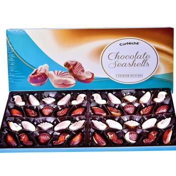 比利时进口 可尼斯CorNiche贝壳形夹心巧克力礼盒装390g 零食大礼包 年货礼盒