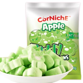 菲律宾进口 可尼斯(CorNiche)青苹果泰迪棉花糖果70g 儿童零食品 水果糖