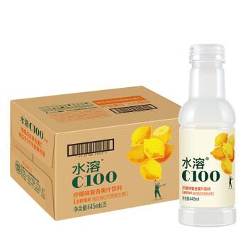 农夫山泉 水溶C100柠檬味 复合果汁饮料445ml*15瓶 整箱装