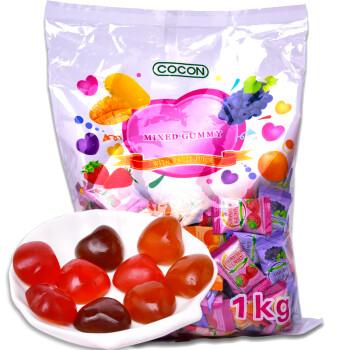 马来西亚进口糖果 可康cocon多口味果汁软糖橡皮糖1kg qq糖水果糖 结婚喜糖批发散装