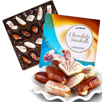 比利时进口 可尼斯CorNiche贝壳形巧克力礼盒装 白巧克力年货糖果情人节礼物195g
