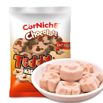菲律宾进口 可尼斯(CorNiche)巧克力泰迪棉花糖70g 儿童糖果 零食品 软糖