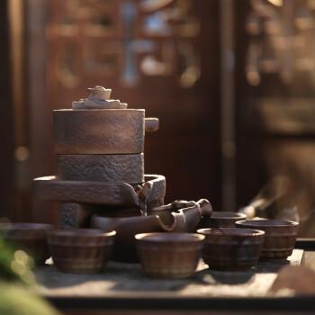 领艺 功夫茶具套装 懒人半自动自流水功夫冲茶器 生财有道自动茶具