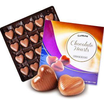 比利时进口 可尼斯CorNiche心形夹心巧克力礼盒装 年货零食糖果情人节礼物200g