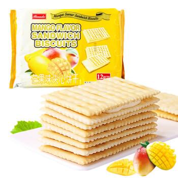 铁尺(Biando) 芒果味苏打夹心饼干 休闲零食蛋糕面包甜点心小吃 实惠分享装 324g