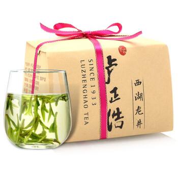 卢正浩 茶叶绿茶 明前特级西湖龙井茶叶春茶2019新茶(狮峰山产区)150g