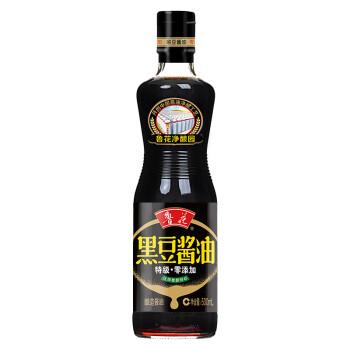 鲁花 调味品 黑豆酱油500ml 酿造特级酱油 非转基因 黑豆酿造