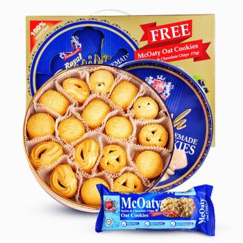 马来西亚进口 GPR曲奇饼干礼盒装681g+72g燕麦曲奇 年货礼盒 零食大礼包