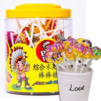 马来西亚进口BIG TOP综合水果味棒棒糖礼盒60支装 年货零食儿童糖果硬糖