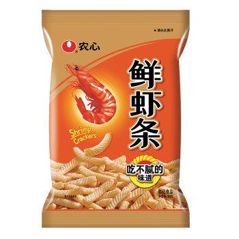 农心 NONG SHIM 原味鲜虾条 袋装 膨化食品 休闲零食大礼包90g