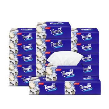 得宝(Tempo) 抽纸 4层100抽面巾纸*18包纸巾 天然无香(整箱销售)