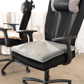 FOOJO椅垫记忆棉汽车坐垫 慢回弹办公室餐椅垫榻榻米防滑沙发垫子加厚40*40cm灰色