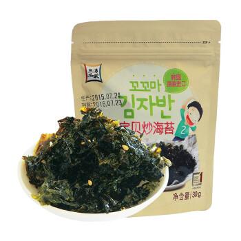 韩国进口 海地村 紫菜海苔 三海名家宝贝炒海苔 30g