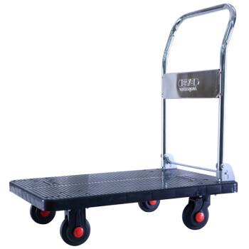 搬运宝 CQ-DH9 超轻平板车折叠手推车拖车小推车小拉车货车工具车塑料搬运车 大号超静音款90x60cm 承重800斤